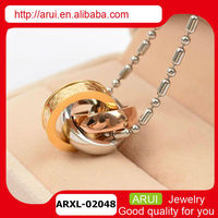 Fashion Rush stainless steel jewelry birthstone ring pendant