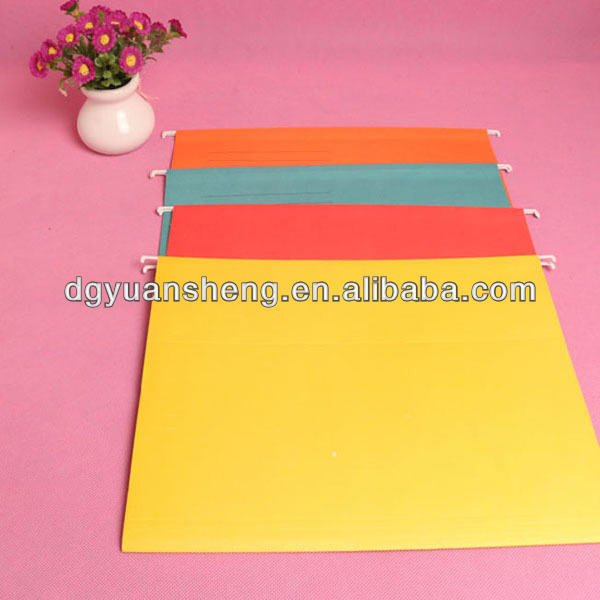 office stationery hanging file folder paper with clip and printing