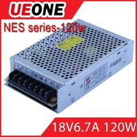 18v dc power supply NES series 120w 18v 6.6a switching power supply