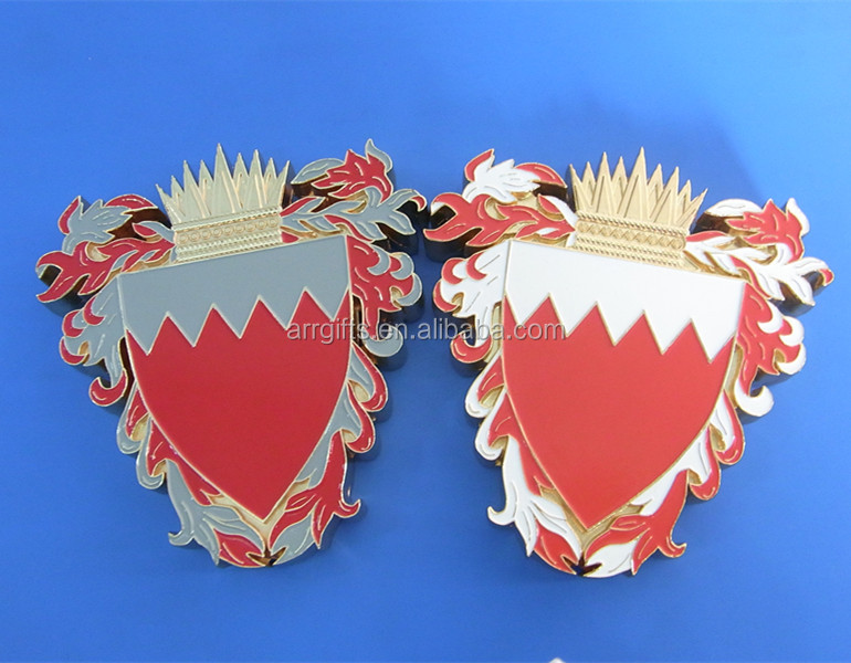 Bahrain national flag metal paper weight for promotion