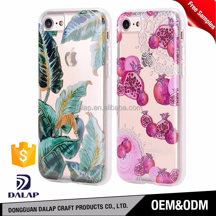 for iphone 7 case pc tpu hybrid case with custom design printing