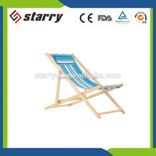 Personal customized solid wooden beach lounge