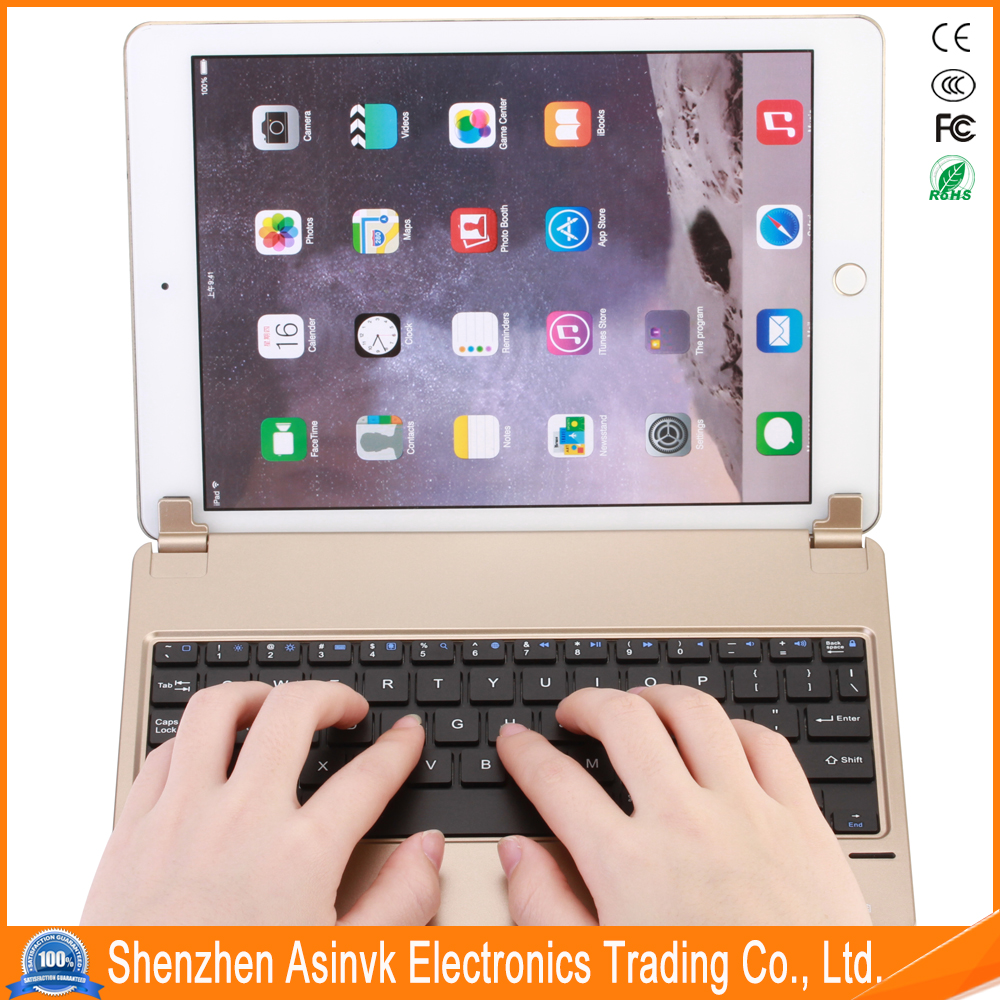 Ultra-Thin Folding ABS movable support slot keyboard Blue tooth Keyboard Cover Case for iPad Air