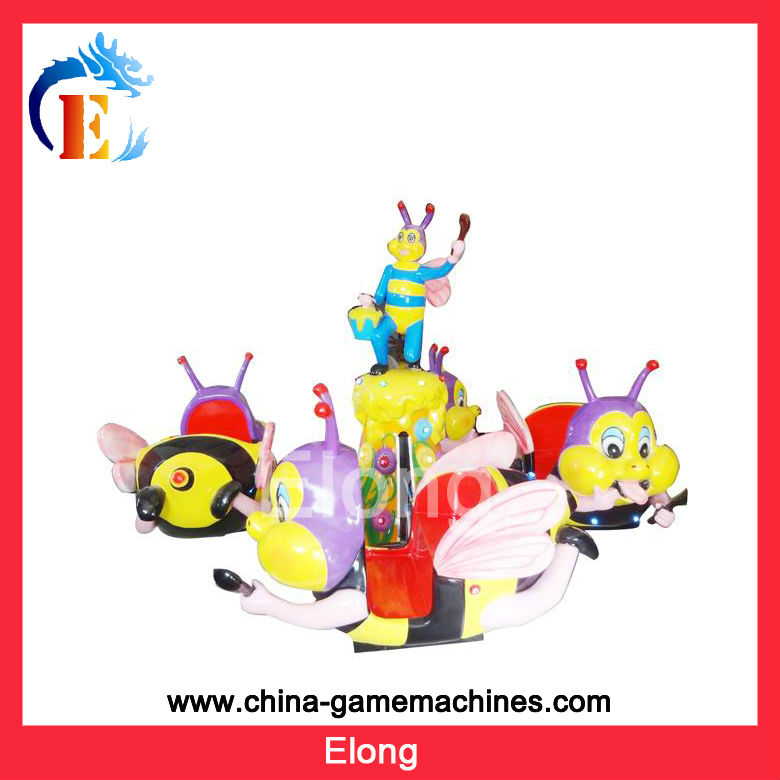 Cute appearance little bee kids carousel rides