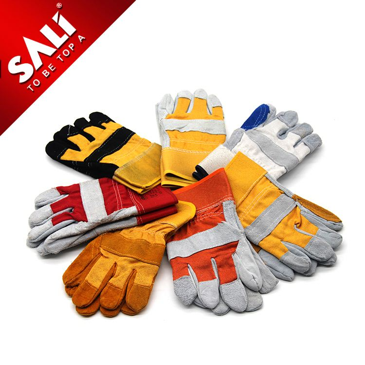 24 Hours Feedback ISO Certificated elbow length welding leather gloves