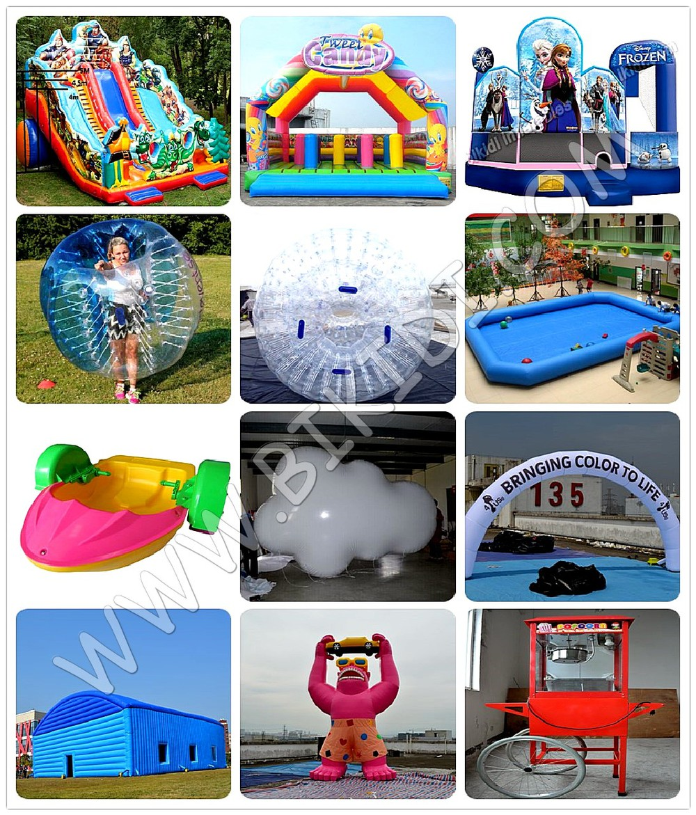 HI Best Quality PVC/TPU large human inflatable bumper bubble ball, body bumper ball D1005A