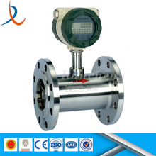 Flange connection gas turbine flowmeter / gas digital flow meter / axial turbine