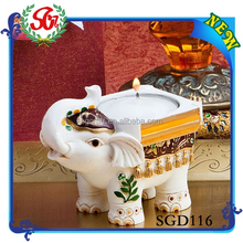 SGD116 Resin Lucky Indian Elephant Candle Holder,Cheap Wedding Candle Holder