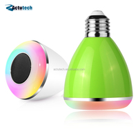 High Quality music android IOS music playing bluetooth smart led light bulb with speaker
