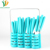 16pcs Plastic handle Cutlery set with TPR Coating Flatware Set