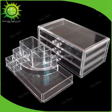 Wholesale Deco Acrylic Plastic Jewelry / Cosmetic Organizer with Drawer