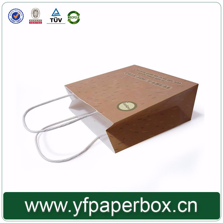 Yifeng factory cheap custom ailing kraft paper bag paper packaging box