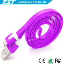 Factory wholesale Flat USB charging cable/data cable for Android Smart Phone