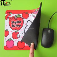Beautiful cartoon style microfiber cloth rubber mouse pad