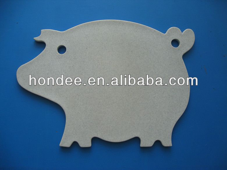 Cute Animal Style Pig Shape Plastic Chopping Board Cute Cutting Board
