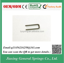 Manufacturer Custom Stainless Steel Wire U Shape Spring Clip