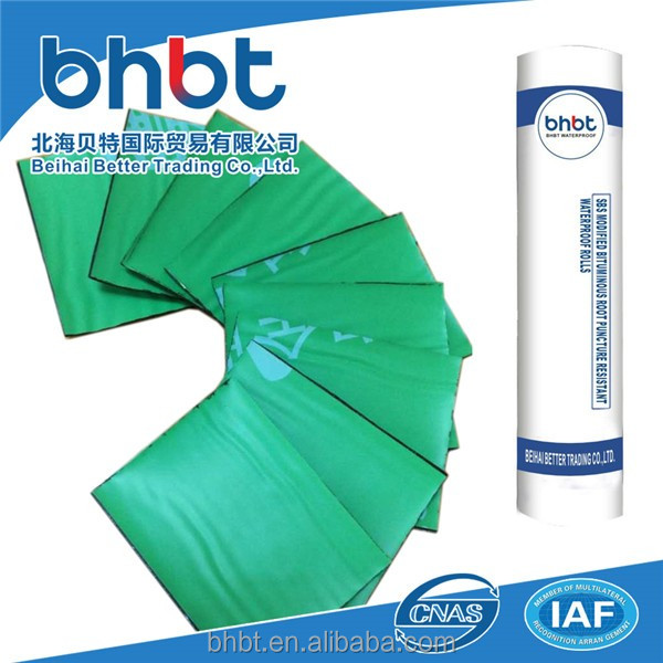SBS Modified Bituminous Root Puncture Resistant Waterproof Rolls