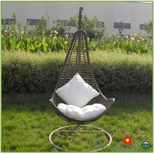 Hotel PE Rattan Hanging Chair Single Seat Swing Chair