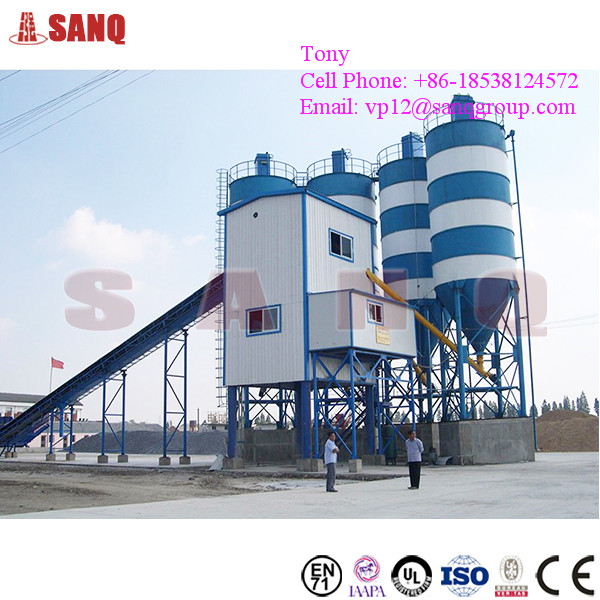120m3/h Stationary Ready Mixed Concrete Admixture Mixing Plant HZS120
