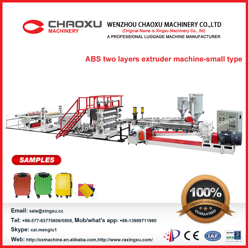 ABS Two Lines Plastic sheet extrusion machine