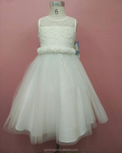 Fancy Lace Bodice Tulle Girls Kids First Holy Christening Communion Dress