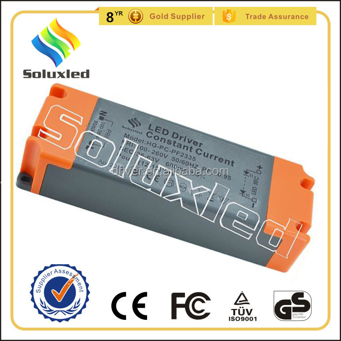 15*3W Constant Current LED Driver 600mA High PFC Non-stroboscopic With PC Cover For Indoor Lighting
