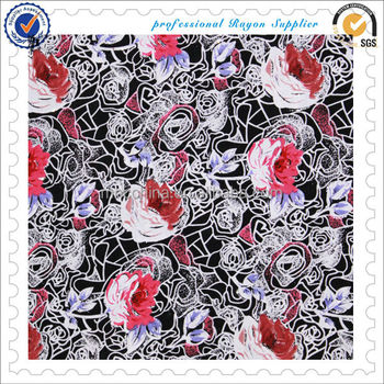 printed spun rayon fabric of MNC China