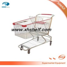 XH-AM 180 Liter metal material supermarket shopping trolley cart