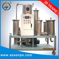 TYA-I type vacuum cooking oil filter machine,used vegetable oil recycling plant
