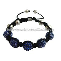 Fashion jewelry light blue shamballa bracelet GB780