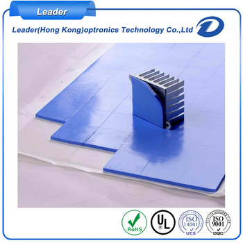 Die cut silicone thermal conductive heat sink cooling pad
