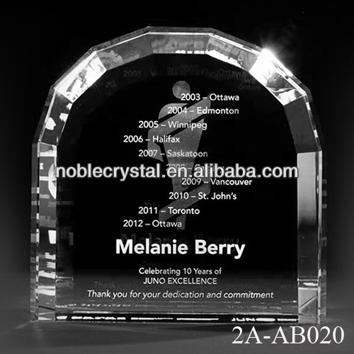 Window Arch 3D Laser Engraved Crystal Gifts
