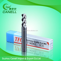 high speed tungsten solid carbide cutting tools D6-3F-HRC45 carbide end mill tool for aluminum