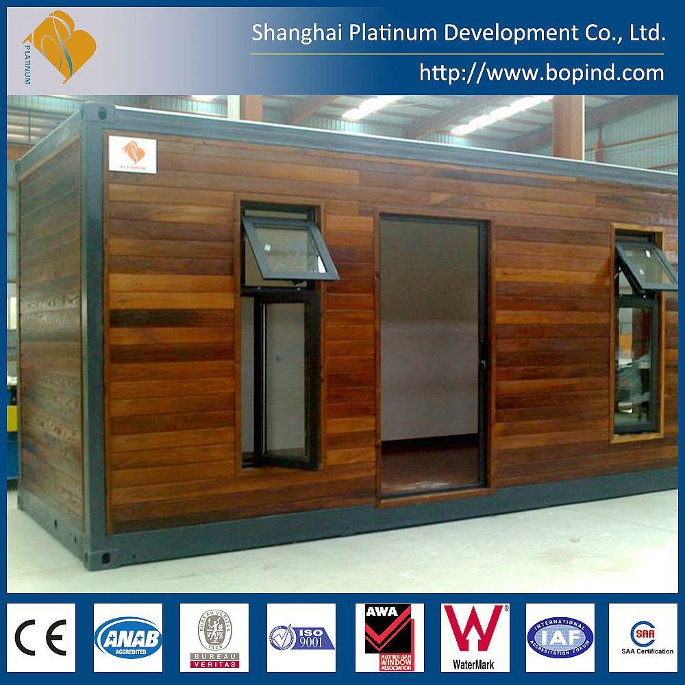 well-designed easy assembly ISO low cost steel frame container house with wood finishing