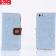 100% Real Genuine Classic Vintage Leather Wallet Flip Case Cover for iPhone 4