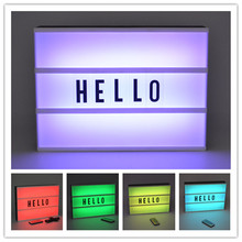 A4 Size USB or Battery Powered Color Changing Cinematic Lightbox Cinema Sign Letters RGB Light Box