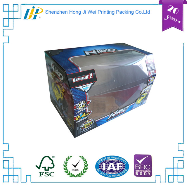 hot sell latest RC car toy packaging corrugated paper box with PVC window