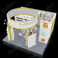 aluminum frame fabrics graphics 6x6 exhibition booth portable