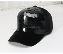 Fashion children autumn/winter warm fish scales sequined baseball cap