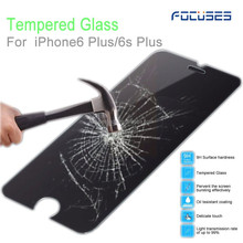 Factory wholesale mobile Phone accessories 0.26MM 9H Premium tempered glass for iPhone 6 /6 s plus screen protector Focuses