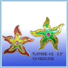 Starfish,colorful plated Magnet