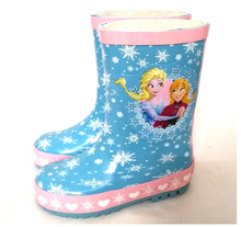 TF-02160711012 children non-slip frozen rubber rain boot for girls