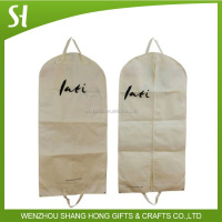 natural non woven material and zip lock garment suit bag with logo