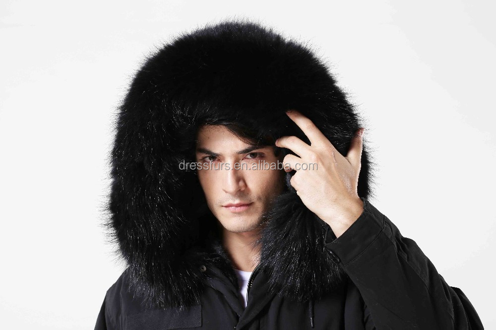 wholesale black jacket faux fur lining raccoon collar from china winter jacket manufacturer