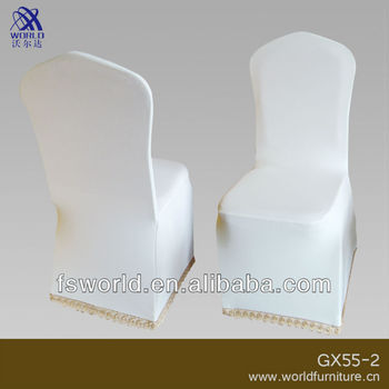 white spandex chair cover for banquet and wedding