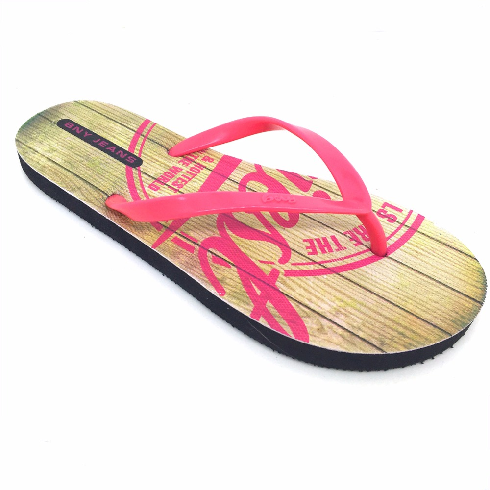2017 summer cheap pvc upper new design woman flip flops hot sale beach walk rubber latest ladies slippers shoes and sandals