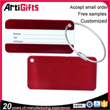 Artigifts company Professional metal luggage tag for travel and promotion