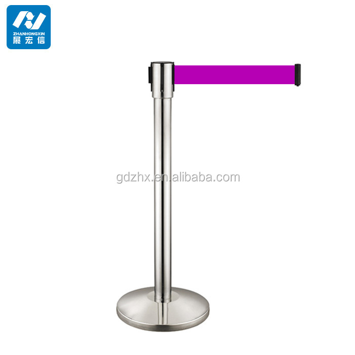 stainless retractable belt barrier railing stand road safety barrier