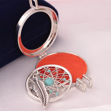 New Arrival Promotion Plant Collares Maxi Necklace Collier Aromatherapy Oil Locket Turquoise Zinc Alloy Perfume Necklaces