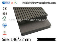 Plastic wood decking with SGS CE FSC ISO, WPC Decking composite Decking/Flooring, laminate Decking Solid Decking vinyl decking